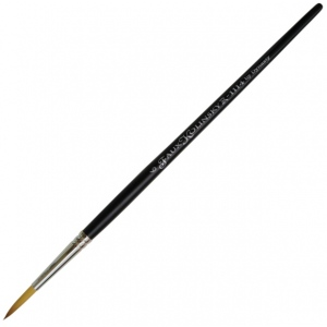 Dynasty® Faux Kolinski Round Brush Size 6: Long Handle, Synthetic, Round, Acrylic, (model FM36958), price per each