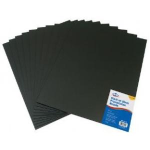 "Alvin® Black on Black Presentation Boards 11"" x 14"" (Retail Pack); Color: Black/Gray; Format: Sheet; Quantity: 10 Sheets; Size: 11"" x 14""; Type: Presentation Board; (model PB1114-10), price per 10 Sheets"