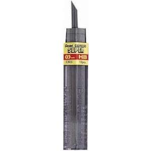 Pentel® Super Hi-Polymer® Super Lead .5mm 3H; Degree: 3H; Lead Color: Black/Gray; Lead Size: .5mm; Quantity: 12-Pack; Type: Lead; (model C505-3H/BX), price per 12-Pack box