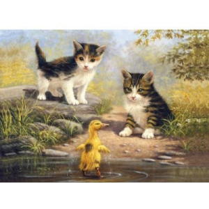 "Royal & Langnickel® Painting by Numbers™ 11 1/4 x 15 3/8 Junior Large Set Pond Pals: 11 1/4"" x 15 3/8"", (model PJL33), price per set"
