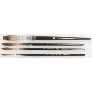 Mack Grey Pencil Quill Series 189L: #8, With Black Lacquered Handle