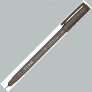Copic® Multiliner (Disposable) Pen Brown 0.1mm: Brown, Pigment, .01mm, .1mm, Fine Nib, Multi, (model MLBR01), price per each