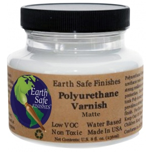 Earth Safe Finishes™ Polyurethane Matte Varnish: Matte, 8 oz, Varnish, (model POLYVARM8), price per each