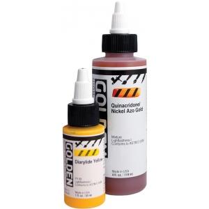 Golden® High Flow Acrylic Diarylide Yellow 1oz.: Yellow, Bottle, 1 oz, Acrylic, (model 0008527-1), price per each