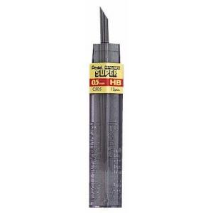 Pentel® Super Hi-Polymer® Super Lead .5mm B; Degree: B; Lead Color: Black/Gray; Lead Size: .5mm; Quantity: 12-Pack; Type: Lead; (model C505-B/BX), price per 12-Pack box