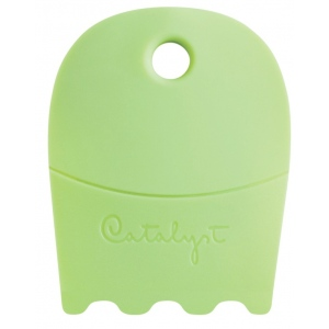 Princeton™ Catalyst™ Contour Shape 21 Green: Silicone Synthetic Bristle, Contour, Acrylic, Oil, (model C-21), price per each