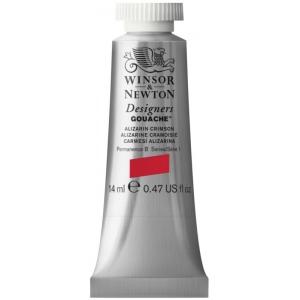 Winsor & Newton™ Designers' Gouache Color 14ml Alizarin Crimson; Color: Red/Pink; Format: Tube; Size: 14 ml; Type: Gouache; (model 0605004), price per tube
