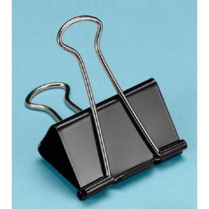 """Alvin® Binder Clips 2"""": Black/Gray, 2"""", (model 100260), price per box"""