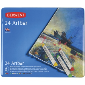 Derwent Artbar 24-Color Set; Color: Multi; Format: Stick; Type: Wax; (model 2300589), price per set