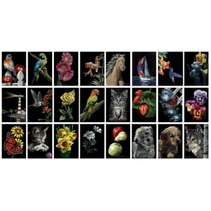 """Ampersand Scratchbord Kit: Daisies, 5"""" x 7"""", Case of 12"""