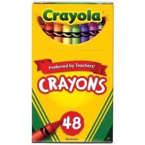 Crayola® Original Crayon 48-Color Set; Color: Multi; Format: Stick; (model 52-0048), price per pack