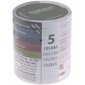 PanPastel® Ultra Soft Painting Pastels Extra Dark Shade Set; Color: Multi; Format: Pan; Type: Ultra Soft; (model PP30056), price per set