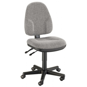 "Alvin® Medium Gray High Back Office Height Monarch Chair; Arm Rest Included: No; Color: Black/Gray; Foot Ring Included: No; Height Range: Under 24""; Seat Material: Fabric; (model CH555-60), price per each"