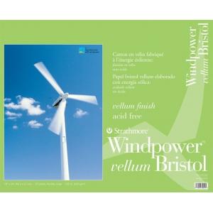 "Strathmore® Windpower™ 19 x 24 Vellum Tape Bound Bristol Pad: Tape Bound, White/Ivory, Pad, 15 Sheets, 19"" x 24"", 100 lb, (model ST642-119), price per 15 Sheets pad"
