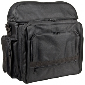 "Heritage Arts™ Traveler Artist Backpack Black: Black/Gray, Canvas, 6""d x 12""w x 15""h, (model PACK-C), price per each"
