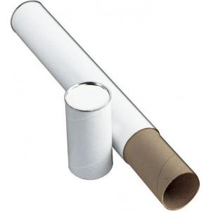 """Alvin® White Fiberboard Tube 3"""" I.D. x 43; Color: White/Ivory; Material: Fiberboard; Size: 3"""" x 43""""; (model T417-43), price per each"""