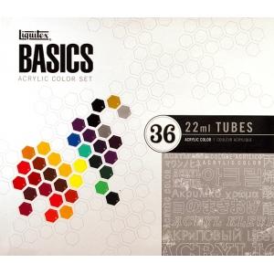 Liquitex® Basics Acrylic 36-Color Set: Multi, Tube, 22 ml, Acrylic, (model 101036), price per set