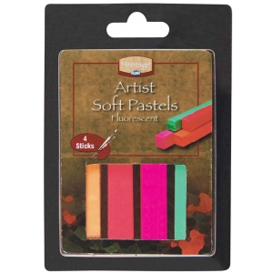 Heritage Arts™ Fluorescent Artist Soft Pastel Set: Multi, Stick, Soft, (model ASP4FL), price per set