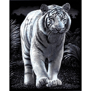 "Reeves™ Scraperfoil™ Scraperfoil White Tiger: Metallic, 8"" x 10"", (model PPSF40), price per each"