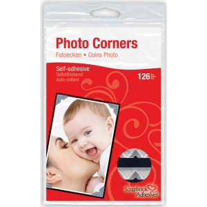 Scrapbook Adhesives™ Paper Photo Corners Silver: Metallic, Paper, 126-Pack, (model 01627-10), price per 126-Pack