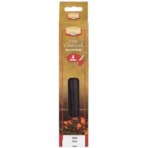 Heritage Arts™ Vine Charcoal Hard 4-Pack Set: Black/Gray, Hard, Stick, Vine, (model VH4H), price per pack