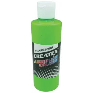Createx™ Airbrush Paint 2oz Fluorescent Green; Color: Green; Format: Bottle; Size: 2 oz; Type: Airbrush; (model 5404-02), price per each