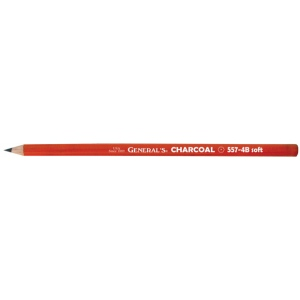 General's® Charcoal Pencil 4B; Color: Black/Gray; Degree: 4B; Format: Pencil; (model 557G-4B), price per dozen (12-pack)