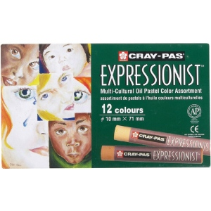 Cray-Pas® Expressionist® Multi-Cultural Oil Pastel Set: Multi, Stick, Oil, (model XLP12SA), price per set
