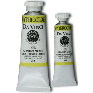 Da Vinci Artists' Watercolor Paint 15ml Hansa Yellow Light; Color: Yellow; Format: Tube; Size: 15 ml; Type: Watercolor; (model DAV242F), price per tube