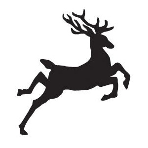 Sarasota Stamps Mounted Rubber Stamp Jumping Reindeer; Material: Rubber; Mounted: Yes; (model SSB-3483), price per each