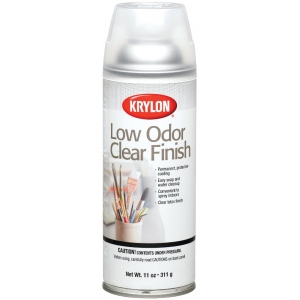 Krylon® Low Odor Clear Finish Spray Gloss; Size: 11 oz; Type: Repositionable; (model K7110), price per each