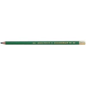 Kimberly® Drawing Pencil 8B; Color: Black/Gray; Degree: 8B; Type: Drawing; (model 525G-8B), price per dozen (12-pack)
