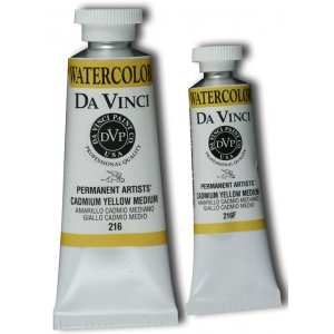 Da Vinci Artists' Watercolor Paint 15ml Cadmium Yellow Medium: Yellow, Tube, 15 ml, Watercolor, (model DAV216F), price per tube