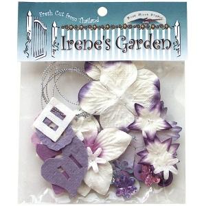 Blue Hills Studio™ Irene's Garden™ Potpourri Paper Flower & Embellishment Pack Purples; Color: Purple; Material: Paper; Size: 20 mm, 30 mm, 50 mm - 52 mm; Type: Dimensional; (model BHS34), price per pack