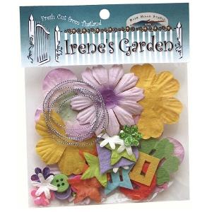 Blue Hills Studio™ Irene's Garden™ Potpourri Paper Flower & Embellishment Pack Rainbow; Color: Multi; Material: Paper; Size: 20 mm, 30 mm, 50 mm - 52 mm; Type: Dimensional; (model BHS32), price per pack