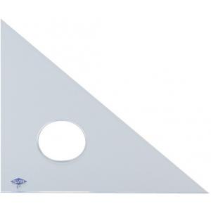 "Alvin 10"" Professional Acrylic Triangle: Clear Acrylic, 45°/90°"