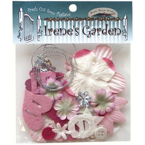 Blue Hills Studio™ Irene's Garden™ Potpourri Paper Flower & Embellishment Pack Pinks: Red/Pink, Paper, 20 mm, 30 mm, 50 mm - 52 mm, Dimensional, (model BHS33), price per pack