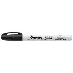 Sharpie® Oil Paint Marker Fine Black; Color: Black/Gray; Ink Type: Paint; Tip Type: Fine Nib; (model SN35534), price per each