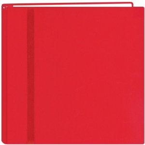 "Pioneer®  Snap Load® 12 x 12 Scrapbook Red: Red/Pink, Fabric, 10 Page Protectors, 12"" x 12"", (model DSL12-RD), price per each"
