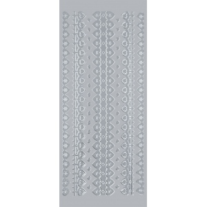 "Blue Hills Studio™ DesignLines™ Outline Stickers Silver #4; Color: Metallic; Size: 4"" x 9""; Type: Outline; (model BHS-DL004), price per pack"