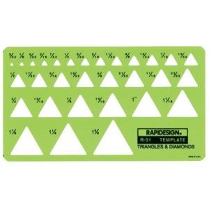 """Rapidesign® Triangle & Diamonds Template: 3/32"""" - 1 3/8"""", (model 51R), price per each"""