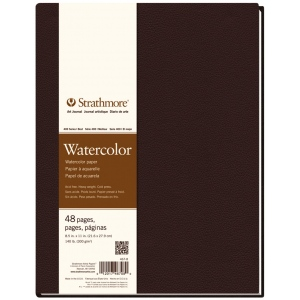 "Strathmore® 400 Series 8 1/2"" x 11"" Sewn Bound Watercolor Art Journal: White/Ivory, Journal, 48 Sheets, 8 1/2"" x 11"", Cold Press, Watercolor, (model ST467-8), price per each"