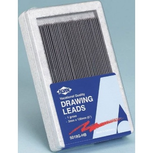 Alvin® Constant 2mm Drawing Lead Gross-Pack F; Degree: F; Lead Color: Black/Gray; Lead Size: 2mm; Quantity: 144-Pack; Type: Drawing Lead; (model 5019G-F), price per 144-Pack gross-pack