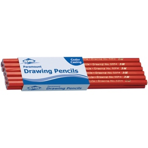 Alvin® Paramount Circle Drawing Pencil 2B; Color: Black/Gray; Degree: 2B; Type: Drawing; (model 5054-2B), price per dozen (12-pack)