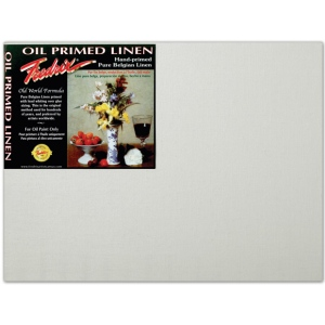 "Fredrix® PRO Series 12 x 16 Archival Oil Primed Linen Board; Color: White/Ivory; Format: Panel/Board; Size: 12"" x 16""; Type: Archival; (model T3396), price per each"