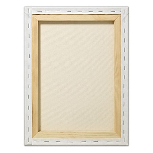 "Fredrix® Artist Series Red Label 24 x 30 Stretched Canvas; Color: White/Ivory; Format: Sheet; Size: 24"" x 30""; Stretcher Strips: 11/16"" x 1 9/16""; Type: Stretched; (model T5030), price per each"