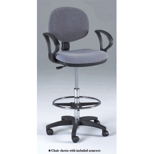 Martin Stanford Drafting Height Seating Chair: Gray