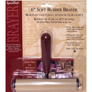 "Speedball® 4"" Deluxe Soft Rubber Brayers: Brown, Rubber, 4"", (model H41226), price per each"