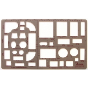 "Pickett® Home Furnishings Template: 1/4"" = 1', (model 1155I), price per each"