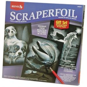 "Reeves™ Scraperfoil™ Scraperfoil Gift Set; Color: Metallic; Size: 10"" x 12""; (model PPSFS7), price per set"